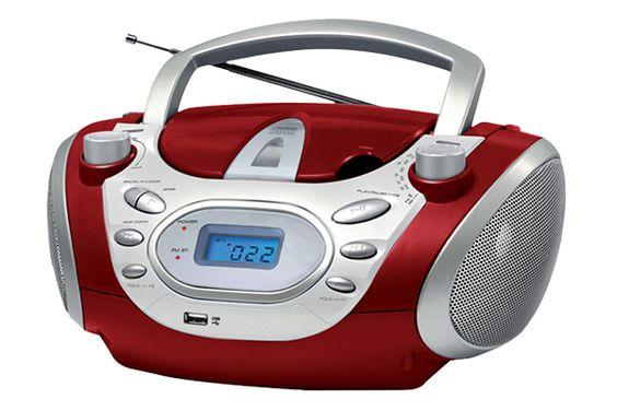 RADIOGRABADORA CDY19  Reproduce CD y MP3 Entrada USB Entrada Auxiliar Sintonizador de radio FM y AM 200 Watts MAX