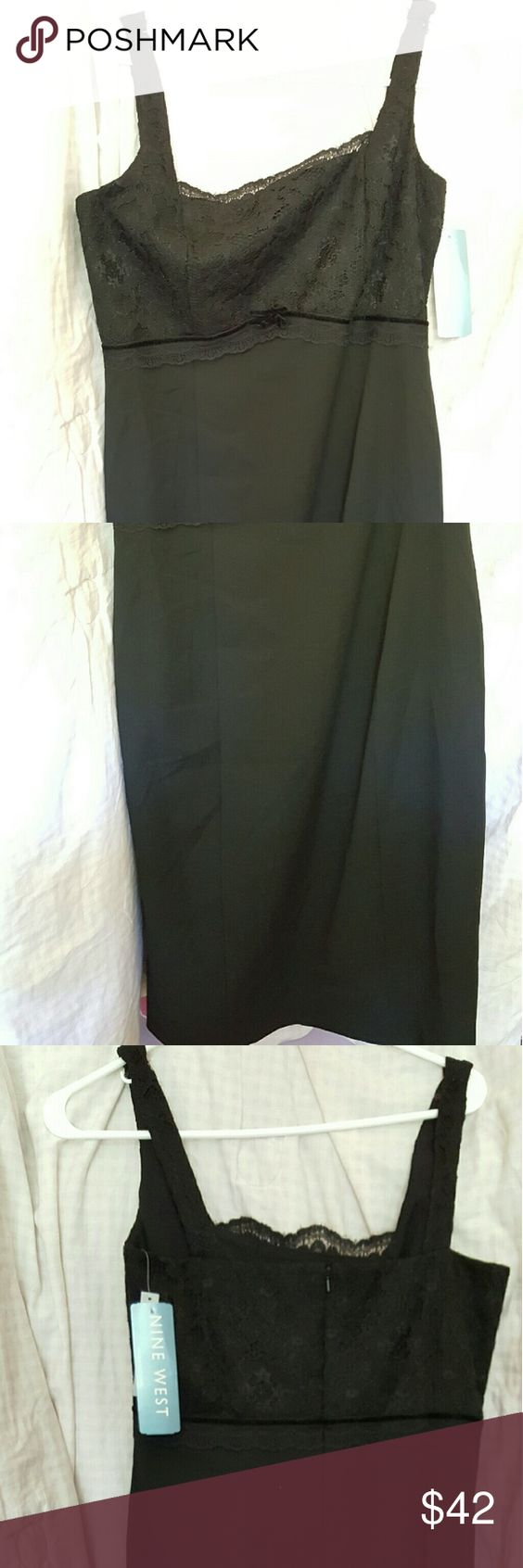 New Nine West Dress -New Dress -Never worn -Size: 8 -Looks Black  -For women Nine West Dresses Midi