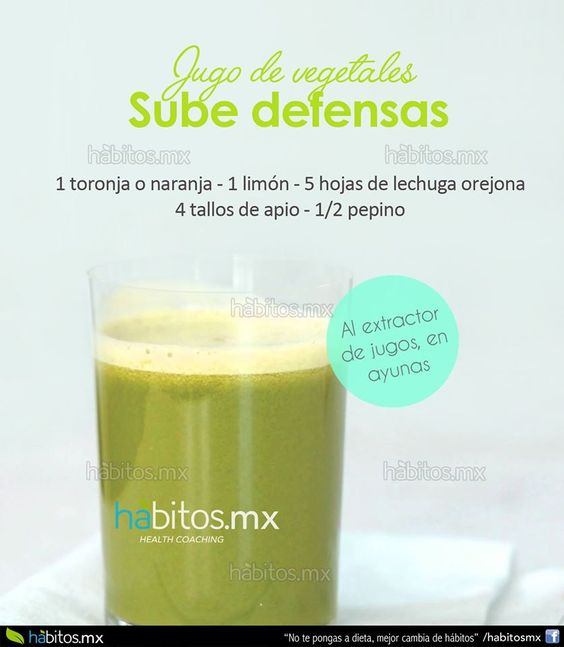 Hábitos Health Coaching | JUGO DE VEGETALES PARA SUBIR DEFENSAS