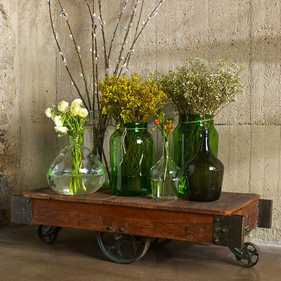 bringing the outside in...8 ways to embrace summer splendor | inspired habitat #outdoorsin, #bambecoChic, #recycledglass, #reclaimedwood, #vintage