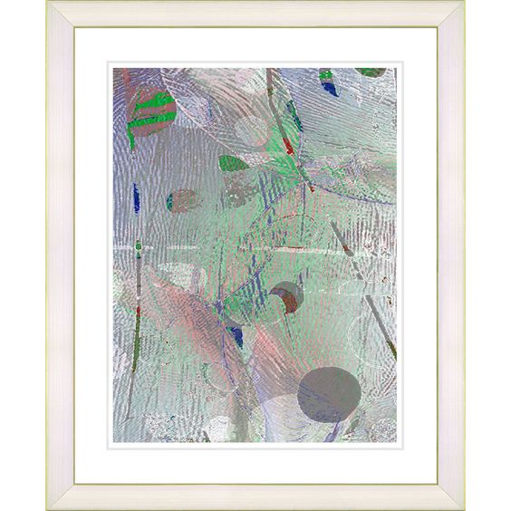 <li>Artist: Zhee Singer</li><li>Title: Studio Works Modern 'Plyos Pastel - Smoke Green' Framed Art Print</li><li>Product type: Framed Giclee fine art print</li>