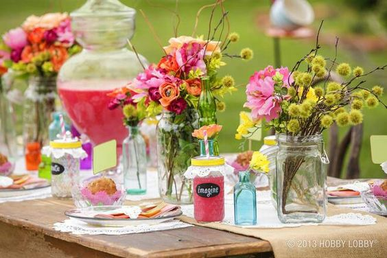 Inspired by Hobby Lobby *** cute idea for a summer bridal shower