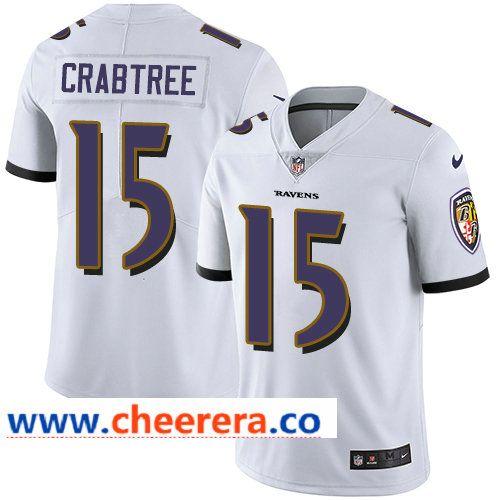 Nike Ravens #15 Michael Crabtree White Men's Stitched NFL Vapor ...