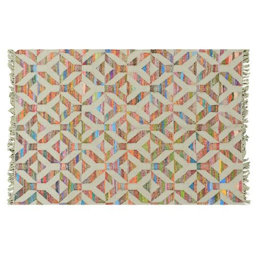 Artistic Inspirations Handcrafted 5' x 8' Panja Weave Rug - Y Pattern