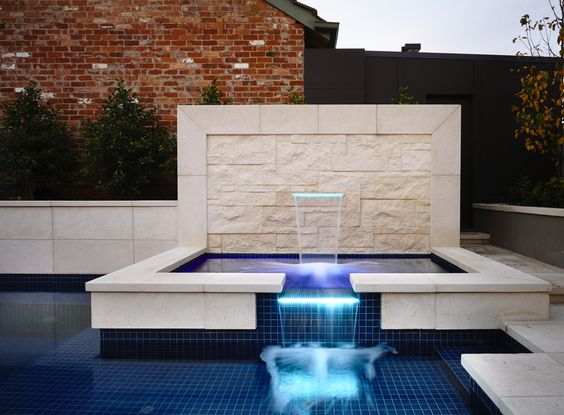 www.integratedpools.com.au  ph: (03) 8532 4444  Pool and Spa by Integrated Pools  #luxurypool #sandstone #integratedpools #canny