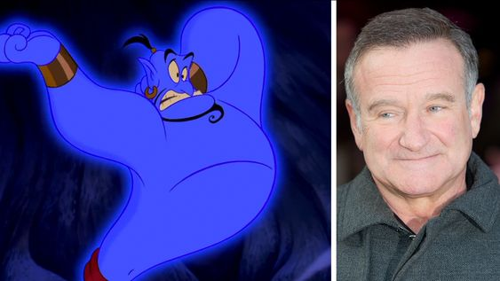 Robin Williams voiced The Genie in Aladdin animated film