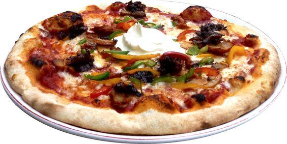 Pizza - Le Florentin Nevers  KEBAB ⁄ tomate, fromage, poulet façon kebab, oignons, poivron, crème ⁄