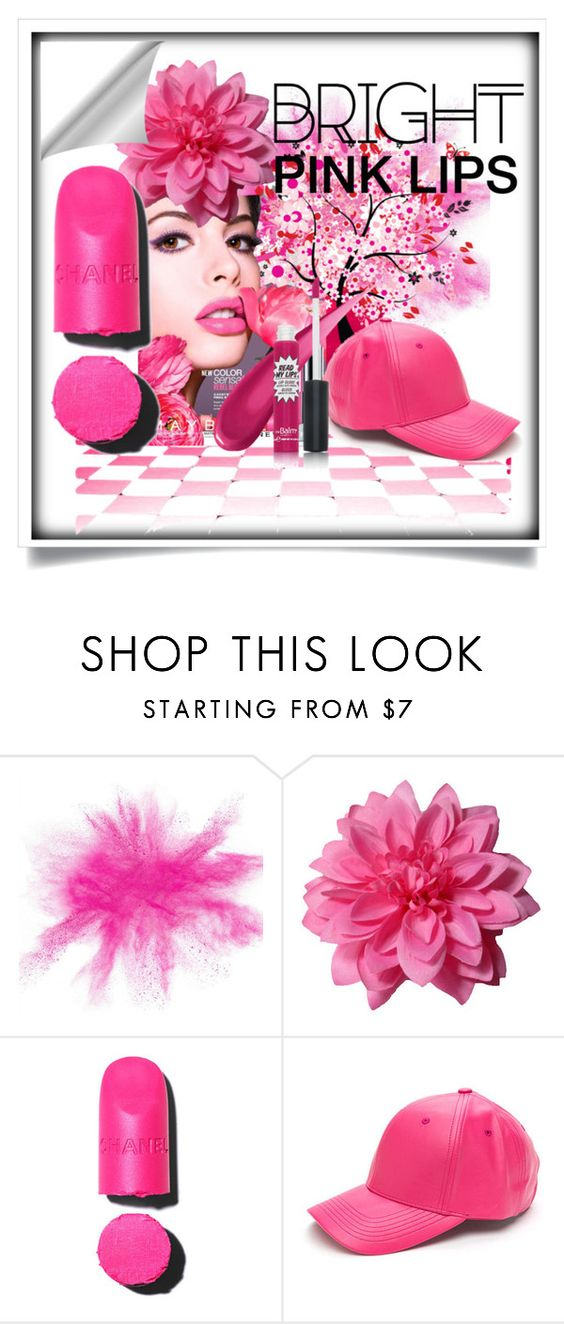 """In the pink"" by assampam ❤ liked on Polyvore featuring moda, Maybelline, Chanel, TheBalm e pinklips"