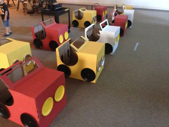 10 Ideas About Cardboard Box Cars On Pinterest: Drive-In Movie Party. Cardboard Box Cars