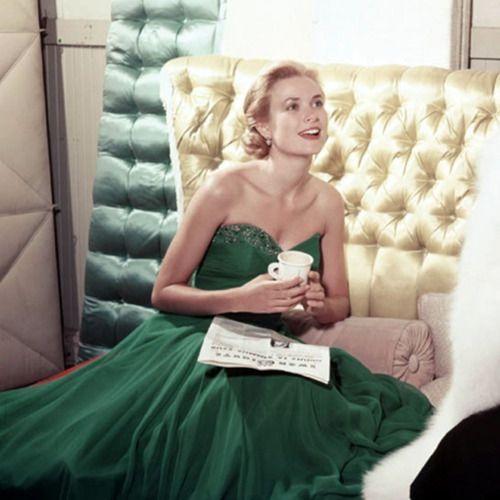 Grace in green.
