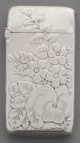 Silver Smalls:Match Safes, A Gorham Silver Floral Match Safe, Providence, Rho...