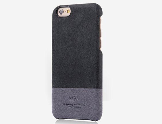 Truffol.com   Kaja Distressed Leather for iPhone 6    Genuine Leather Phone Case, Two-Tone Design, Premium
