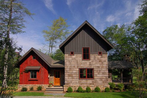 Bark House Shingle Siding and Reclaimed Barnwood Siding eclectic exterior