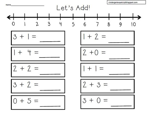 number line worksheets kindergarten free 1 Number Line Worksheets ...