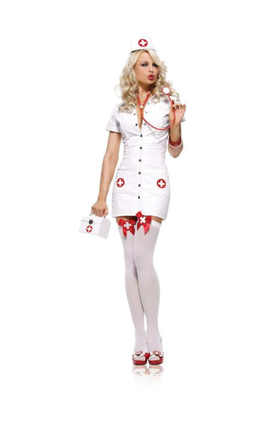 Sexy School Nurse Halloween Costume