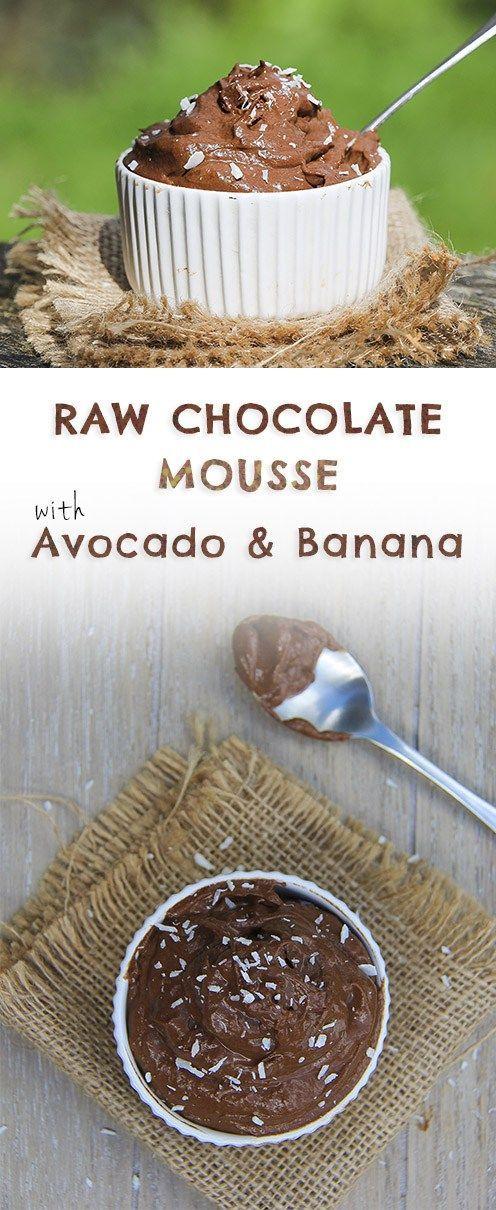 Mousse Recipe with Avocado & Banana | Recipe | Avocado, Mousse ...