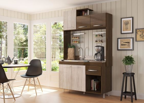 Mueble de cocina alacena armario kit 5 puertas 1 cajon for Mueble alacena