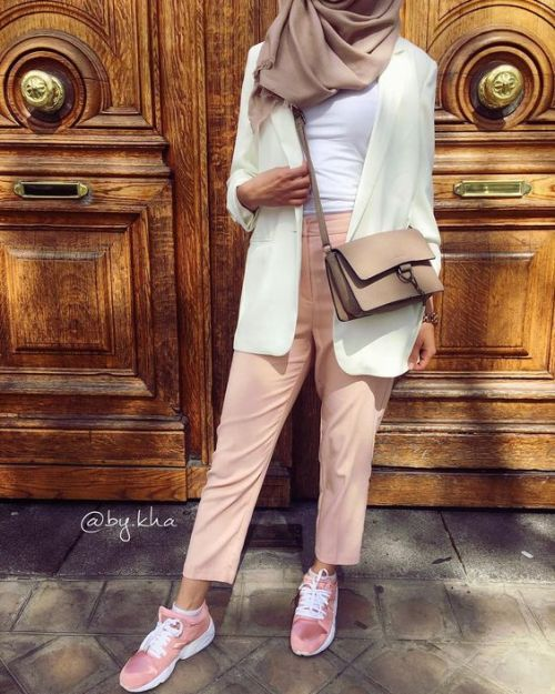 blazer with dressy pants-Spring breathy hijab outfits – Just Trendy Girls