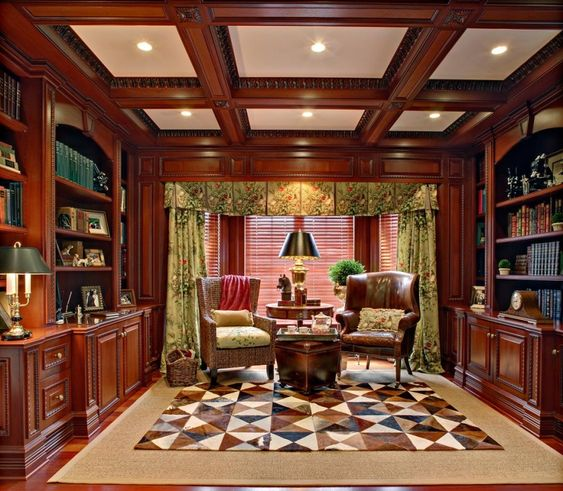 Super Home Library Design With Classic Theme Mood Classic Ceiling Largest Home Design Picture Inspirations Pitcheantrous