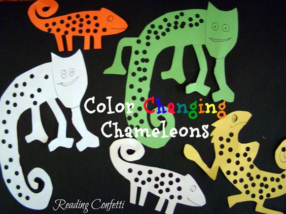 Color Changing Chameleon Craft from Reading Confetti