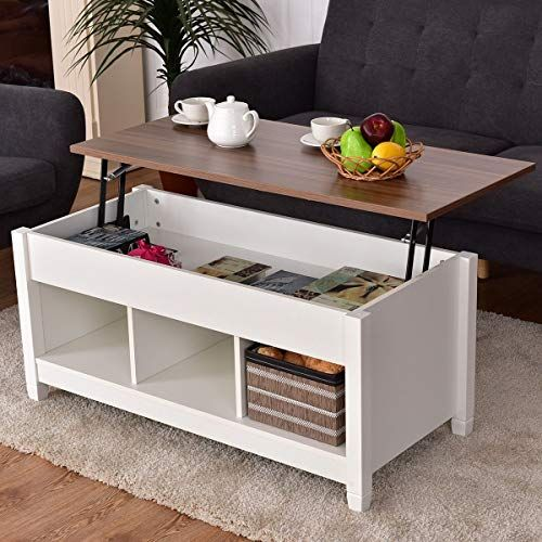 Charleen Lift Top Coffee Table With Tray Top And Storage Coffee Table Living Room Coffee Table Round Coffee Table