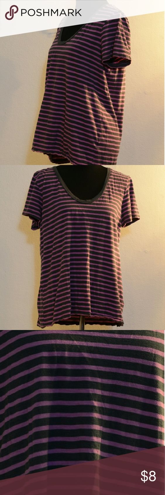 Halogen striped shirt Halogen scoop neck t-shirt Halogen Tops Tees - Short Sleeve