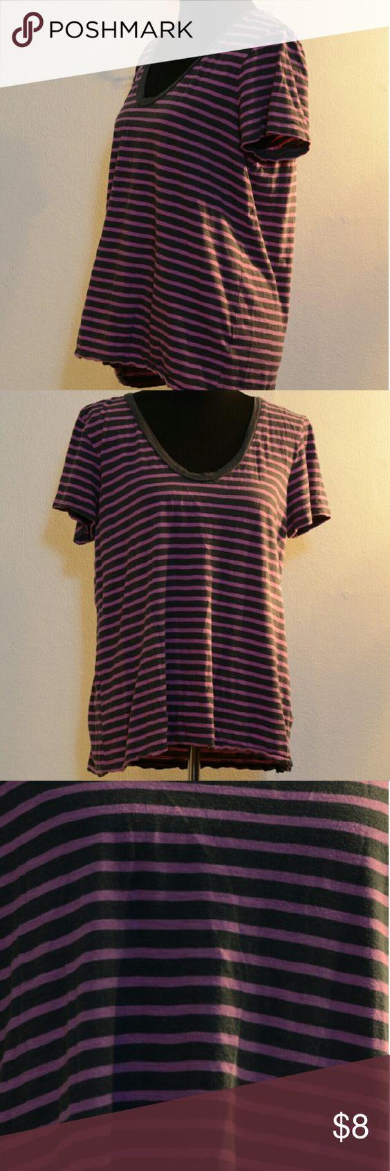 Halogen striped shirt Halogen scoop neck t-shirt Halogen Tops Tees - Short Sleeve