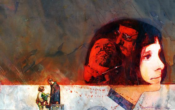 Leon/The Professional by comic artist Bill Sienkiewicz - Imgur