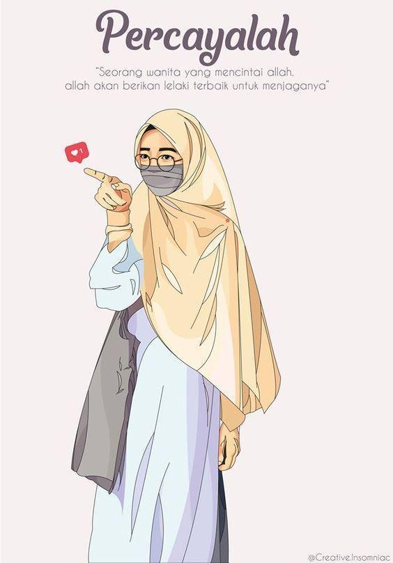 215 Gambar Kartun Muslimah Cantik Lucu Dan Bercadar Hd Gambar Kartun Wanita