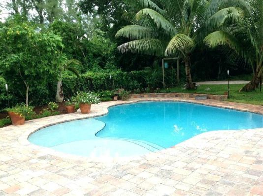 Beach Entry Pool Cost Lagoon Average Swimming Pool Landscaping
