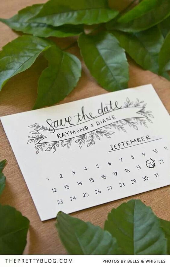 Easy inexpensive save the date cards. Can be made at home!