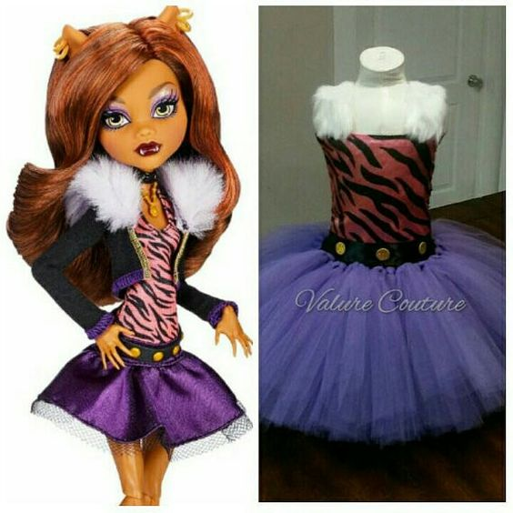 Clawdeen Monster High Inspired Wolf Tutu Dress Facebook.com/ValureCouture Pinterest.com/ValureCouture ValureCouture.Etsy.com