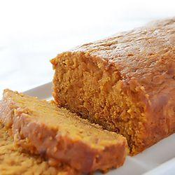 Moist Pumpkin bread...trick to keeping it so moist is to take it out of the baking pan, let it cool for 5 minutes, wrap in aluminum foil and let cool completely. This way all the moisture will be kept inside the loaf. Also, ingredients like pumpkin puree, oil, water and sugar ensure to make the batter moist, while cinnamon and pumpkin spice make it smell delicious