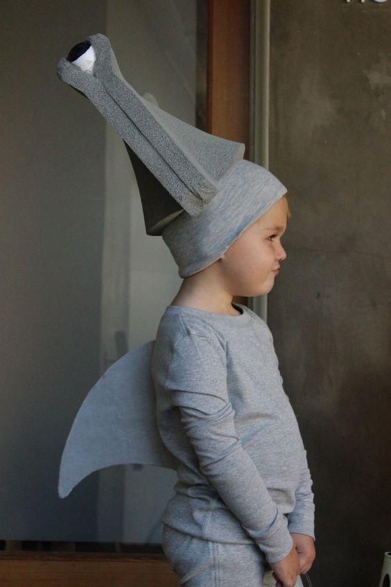 DIY no sew Hammerhead Shark Halloween costume.