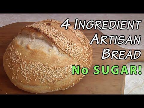 4 Ingredient No Sugar Artisan Bread A Big Family Homestead Live