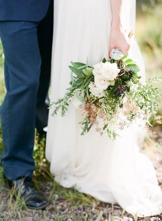 Organic Slate Blue Wedding Inspiration C Lazy U Ranch Connie Whitlock Photography