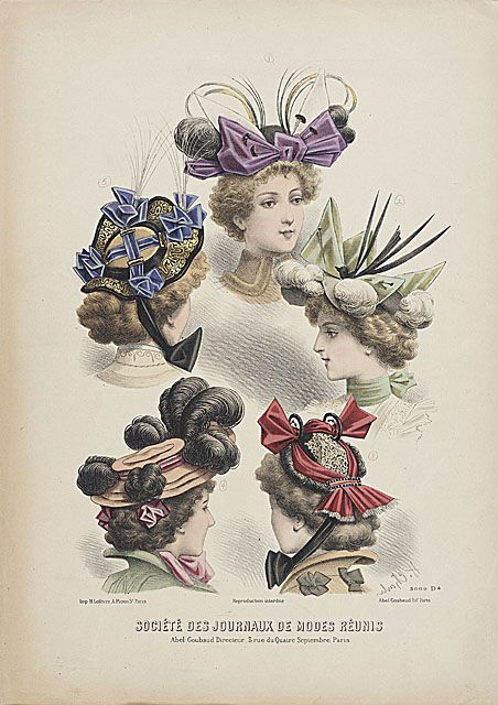 1880-90 Millinery Print, LACMA Collections Online