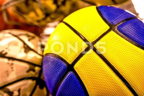 Balls For Basketball Or Volleyball Stock Photos Ad Basketball Balls Volleyball Photos Basketball Volleyball Photos Volleyball