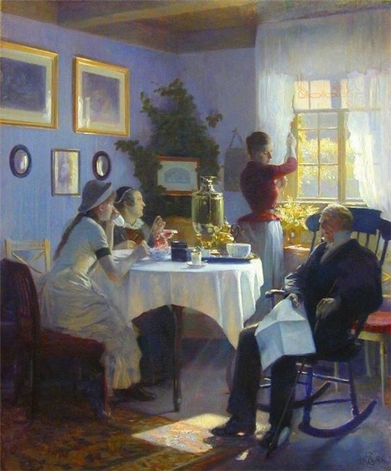 Carl Christian Frederik Jacob Thomsen (1847-1912)  —  A Sunday Afternoon   (664×800)