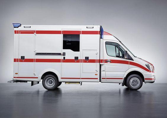"""List View   Daimler Global Media Site > Brands & Products > Daimler Trucks > Mercedes-Benz CVs Interschutz 2015: The new Sprinter """"Rescuer"""" as an ambulance #Interschutz2015 #Mercedes-Benz #Sprinter """"Rescuer"""" #DaimlerAG #Stuttgart #BadenWurtemberg #DE"""