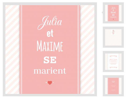 Un chassé croisé de roses très doux pour ce faire part de mariage romantique.  Découvrez-le ici : http://www.lips.fr/impression/faire-part-mariage/format-150-x-150-4p-modele.html?modele_id=395  #fairepartdemariage
