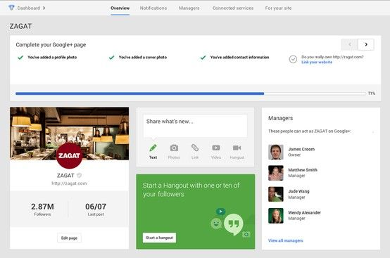 The New Google+ Dashboard Helps Businesses Manage Their Profiles