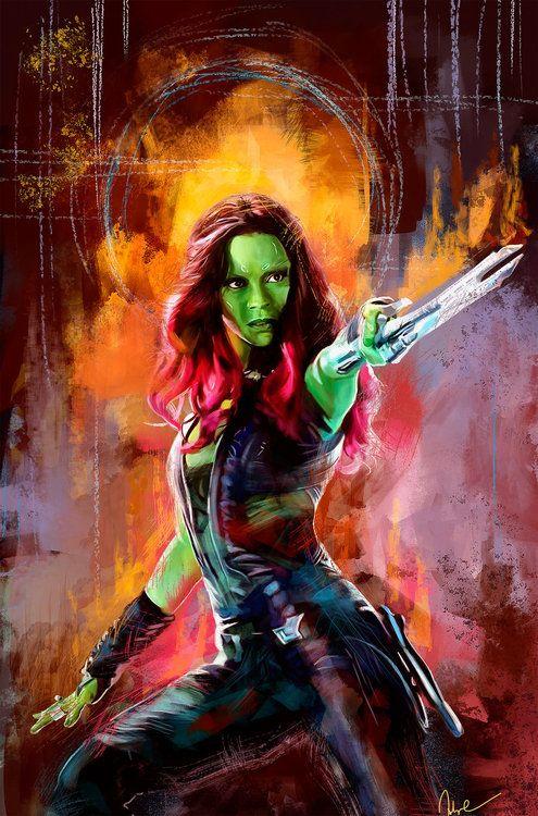 """Guardians of the Galaxy: Gamora"" - art by namecchan"