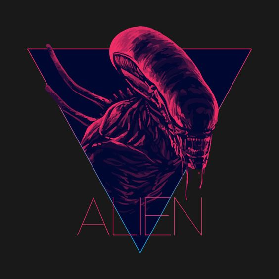 Alien Queen T Shirt 80s Cult Movie Sci Fi Space Film Funny Cool Gift Tee 204