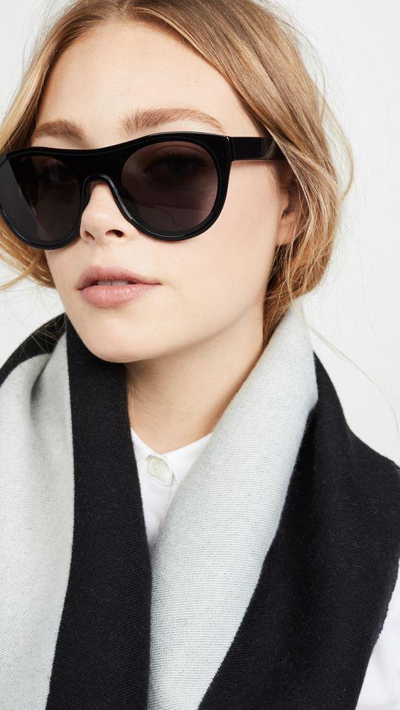 KENZO Классические солнцезащитные очки в круглой оправе | SHOPBOP