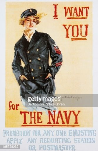 I want you for the Navy poster, World War I, United Kingdom, JUL16