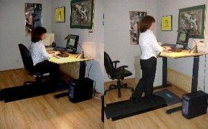 Treadmill desk! What a concept.