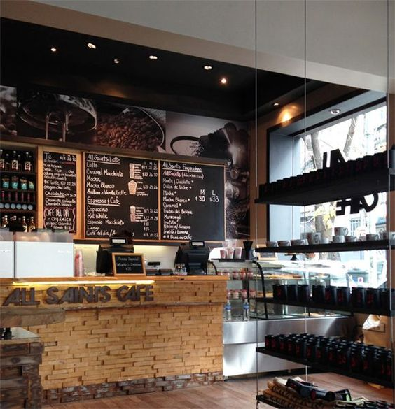 Decoracion de cafeterias peque as buscar con google for Barras modernas para living