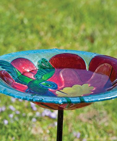 Take a look at this Hummingbird Harmony Birdbath Stake by Evergreen on #zulily today!