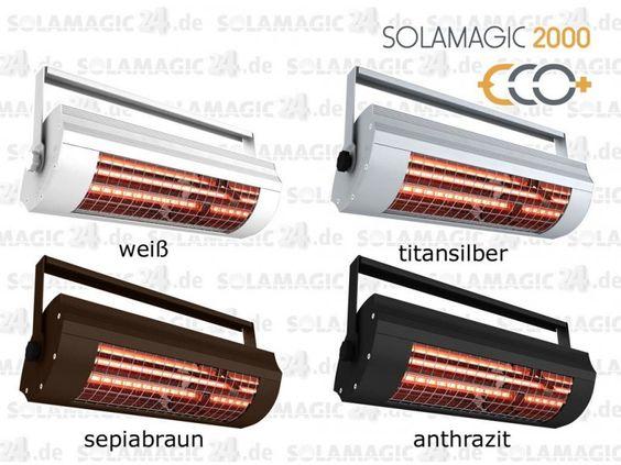 #Infrarot #Heizstrahler mit 2000 Watt Wärmeleistung für optimale Beheizung.